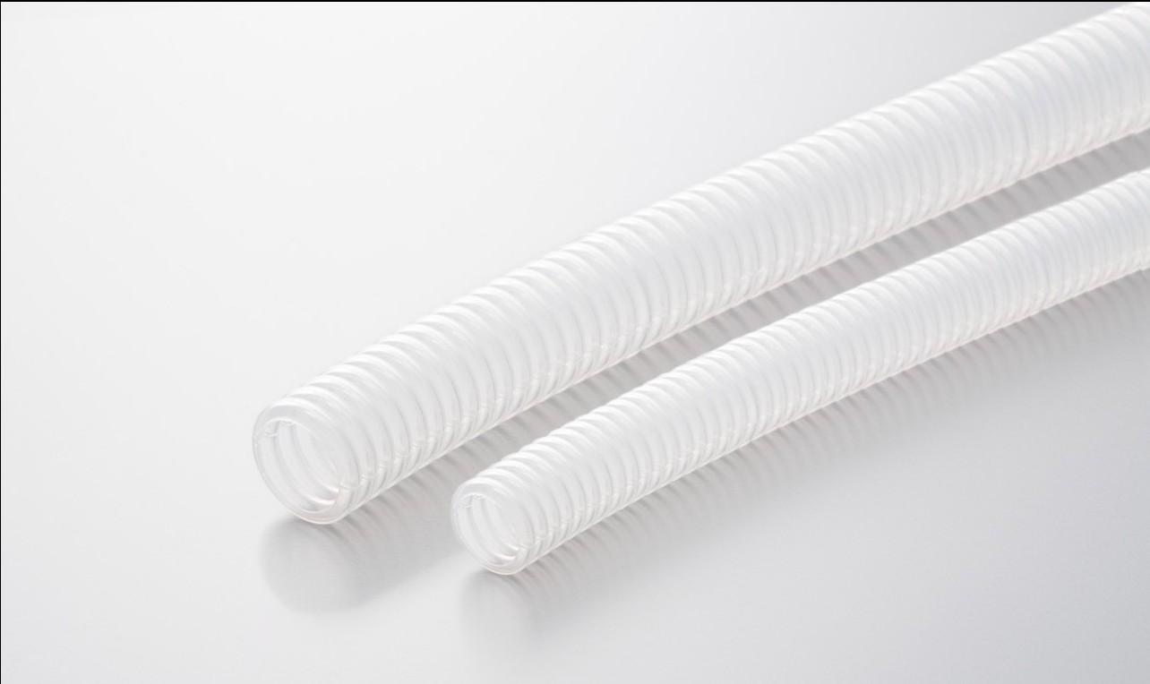 白色透明コルゲートチューブ